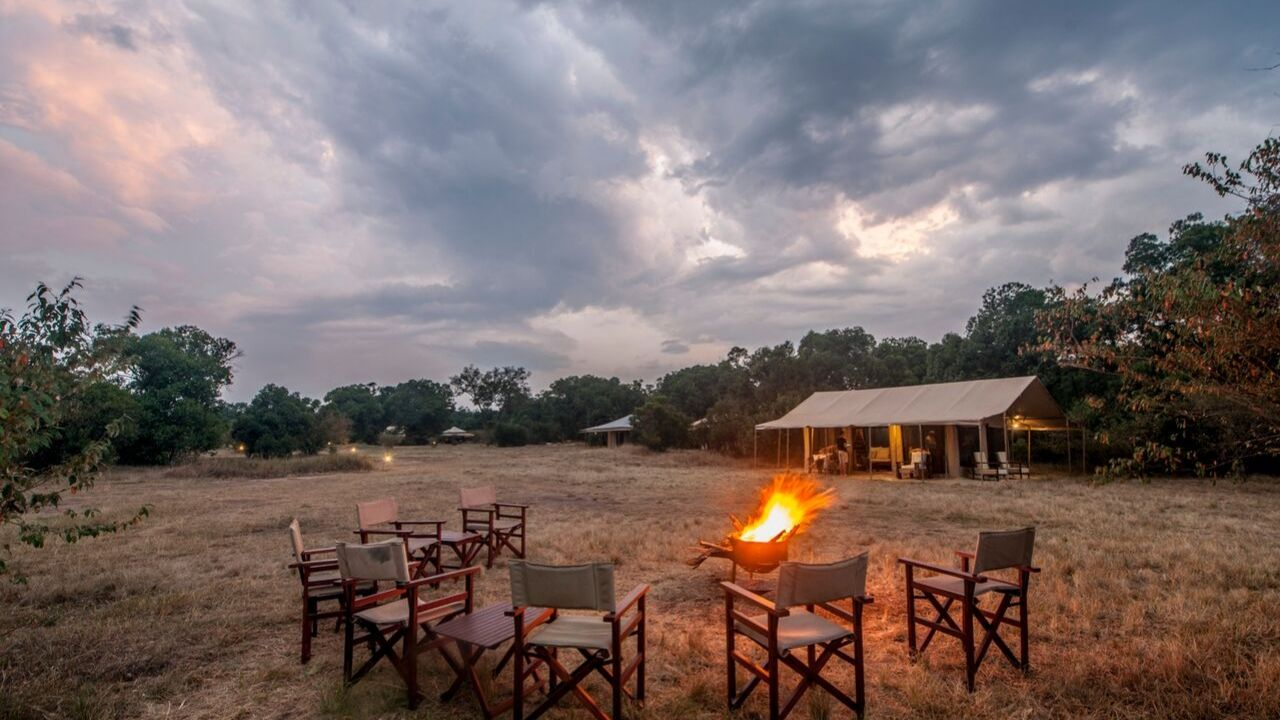 Bonfire at the Acacia Migration Camp