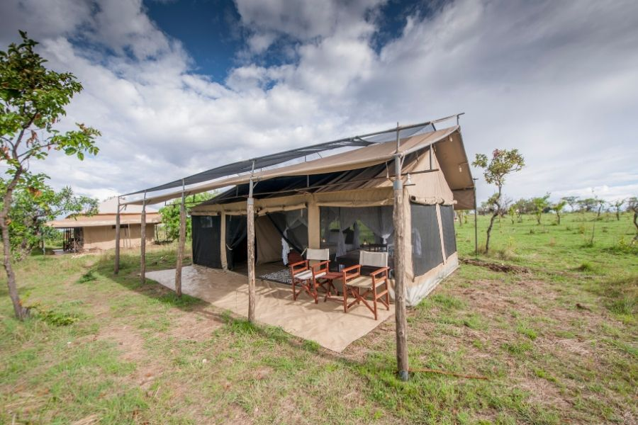 Serengeti Acacia Migration Camp facade. Great Migration Accommodation Permanent Versus Mobile Tented Camps. Serengeti Acacia Camps